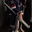 ZLIN, CZECH REPUBLIC - JANUARY 8: USA's Lindsay Reed #30 walks to the ice before taking on Team Sweden during preliminary round action at the 2017 IIHF Ice Hockey U18 Women's World Championship. (Photo by Andrea Cardin/HHOF-IIHF Images)