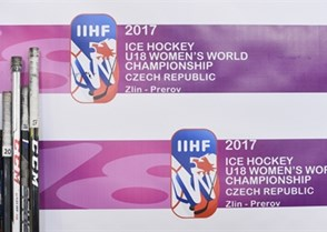ZLIN, CZECH REPUBLIC - JANUARY 13: Team Sweden's back up sticks during semifinal round action against Canada at the 2017 IIHF Ice Hockey U18 Women's World Championship. (Photo by Andrea Cardin/HHOF-IIHF Images)